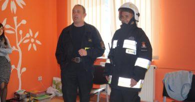 Odwiedziny strażaka