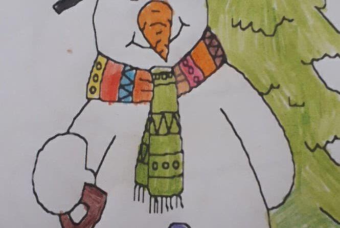 Rysunek wykonany przez Uczestnika Domu podczas pracy zdalnej